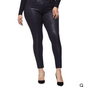 Good American jeans Good legs snakeskin jeans